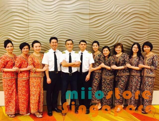 SQ Stewardess SIA Batik Kebaya
