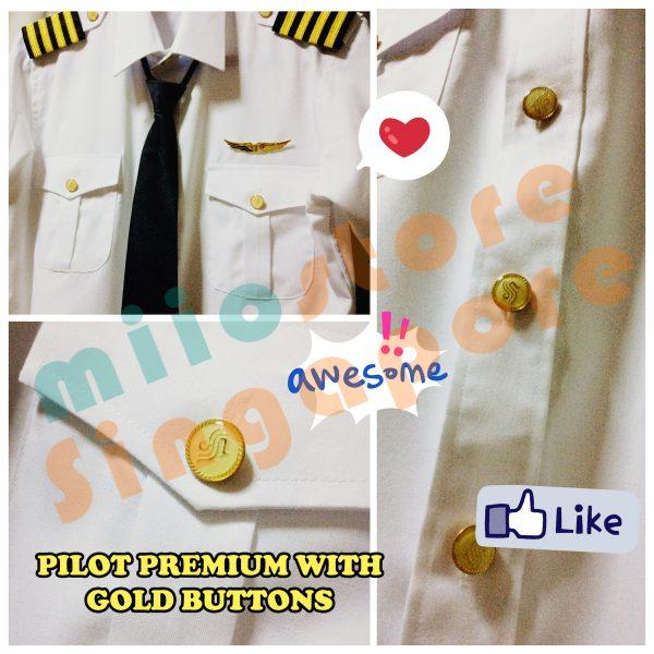 Pilot Uniform - with gold pilot buttons!