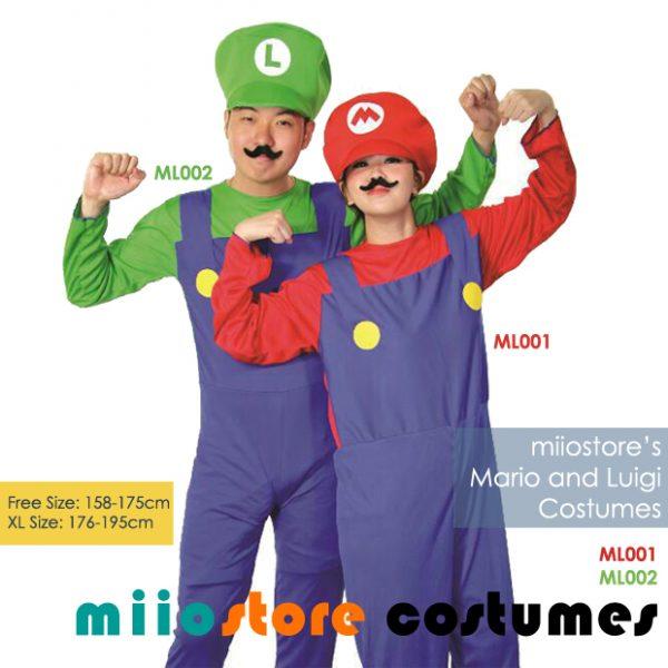 Rent Mario and Luigi Costumes Singapore