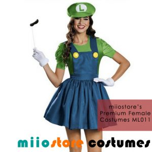 ML011 Ladies Premium Luigi Costumes