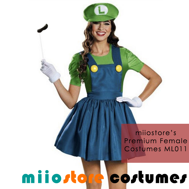 Buy Ladies Premium Luigi Costumes ML011 Buy Luigi Dress Costumes Singapore  sc 1 st  miiostore Costumes & Ladies Mario Costumes Singapore Luigi Super Mario Bros DND Parties