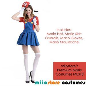 ML018 Mario Ladies Costumes - miiostore Costumes Singapore