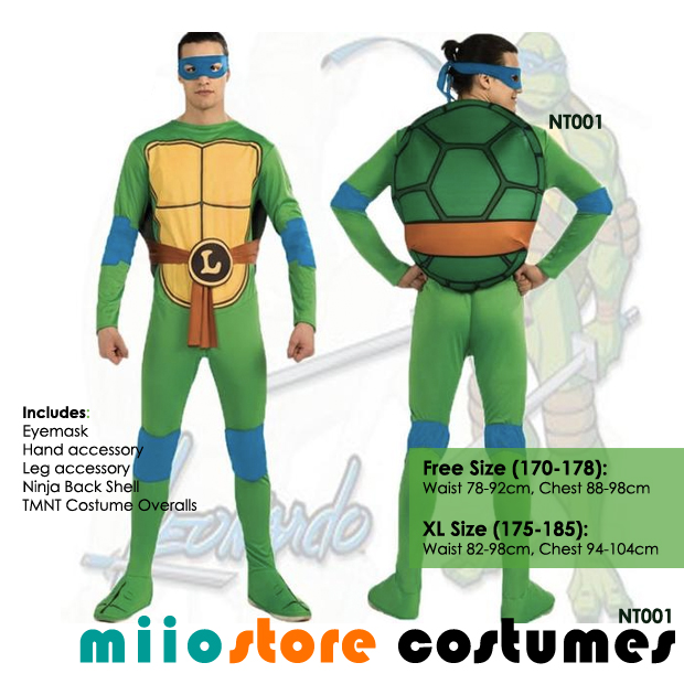 RENT Teenage Mutant Ninja Turtles (TNMT) Costumes Singapore