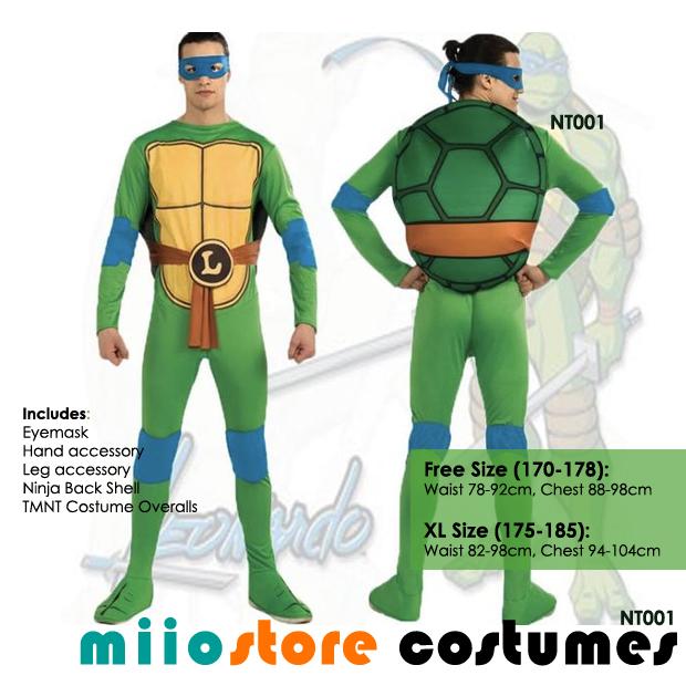 RENT Teenage Mutant Ninja Turtles (TNMT) Costumes Singapore