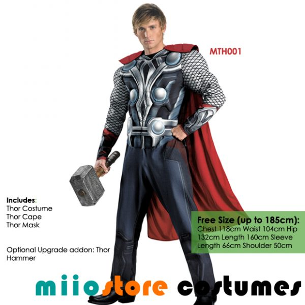 Thor Costumes MTH001 - miiostore Costumes Singapore
