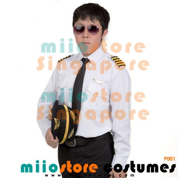 P001 Pilot Male Costume Uniform - miiostore Costumes Singapore