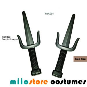 Ninja Double Dagger Sai Pirate Accessories - miiostore Costumes Singapore PRA001