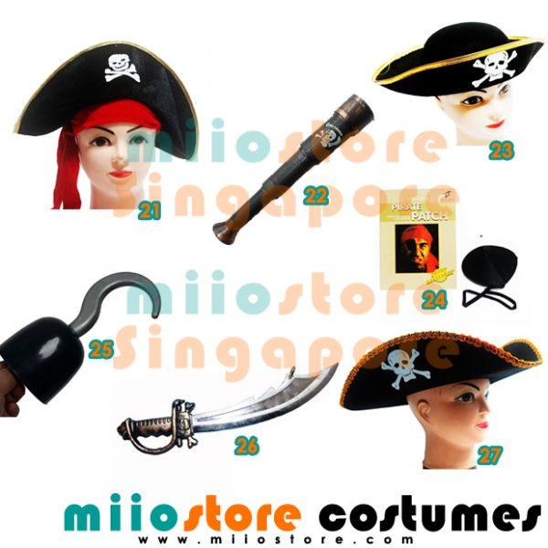 Pirate Accessories - miiostore Costumes Singapore