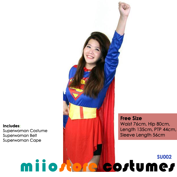 Superwoman Costumes - miiostore Costumes Singapore - SU002