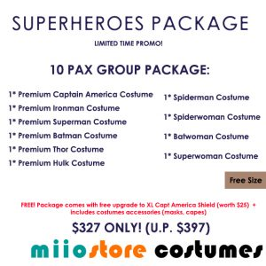 Superheroes Package - miiostore Costumes Singapore