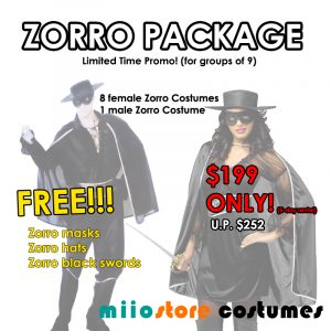 Zorro Package - miiostore Costumes Singapore