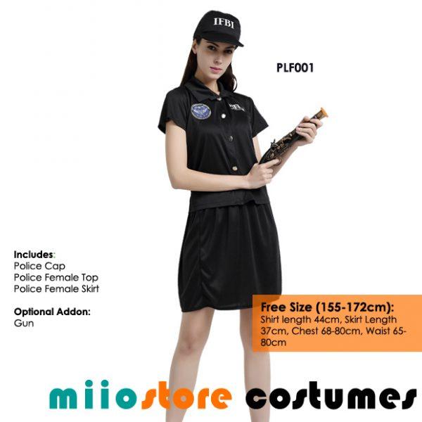 miiostore's Policewoman Cop Costume Singapore - Affordable Costume Rentals - miiostore Costumes Singapore - PLF001