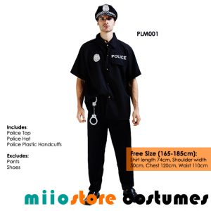 miiostore's Policeman Cop Costume Singapore - Affordable Costume Rentals - miiostore Costumes Singapore PLM001