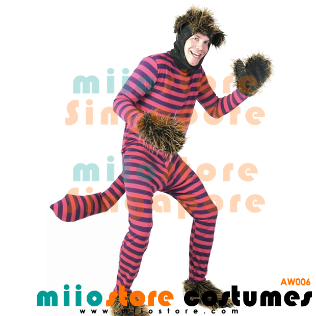 aw006 cheshire cat male costumes alice in wonderland costumes singapore miiostore costumes singapore