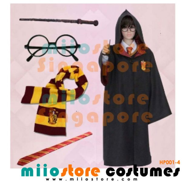 Harry Potter Accessories - Scarves - Harry Potter Glasses - Harry Potter Wand - Harry Potter Vest - Harry Potter Robe - Harry Potter Tie - miiostore Costumes Singapore