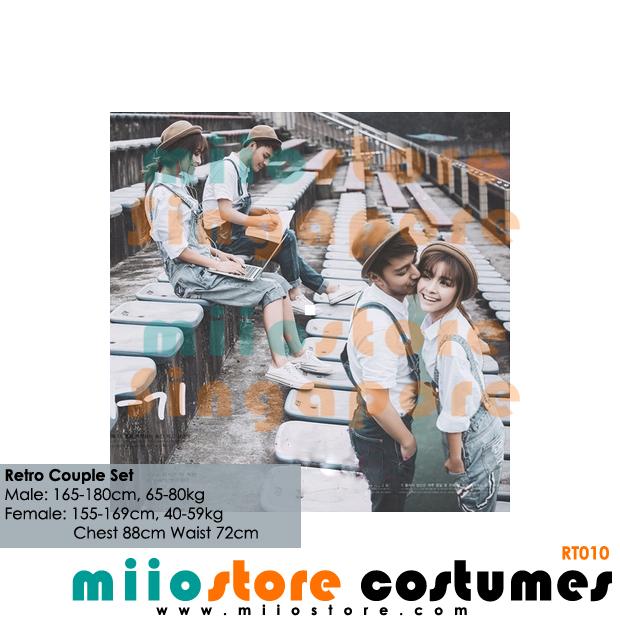 RT010 - Retro Pinafore Romper Jumpsuit Set - miiostore Costumes Singapore