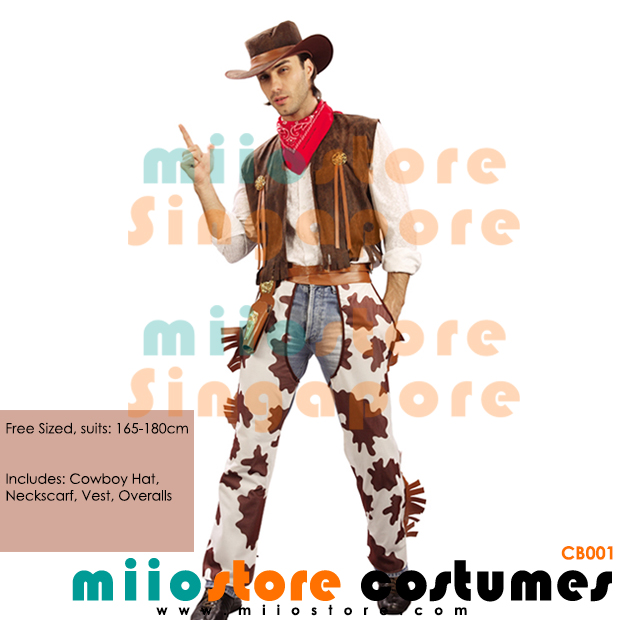 Cowboy Costumes - miiostore Costumes Singapore - CB001