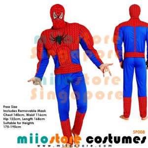 Spiderman Muscle Padded Costumes - miiostore Costumes Singapore
