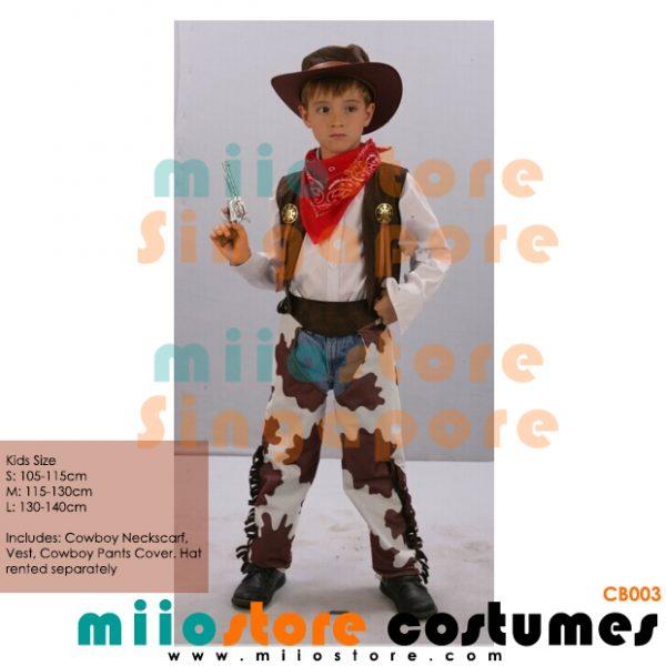 Rent Cowboy Kids Costumes - miiostore Costumes SIngapore - CB003