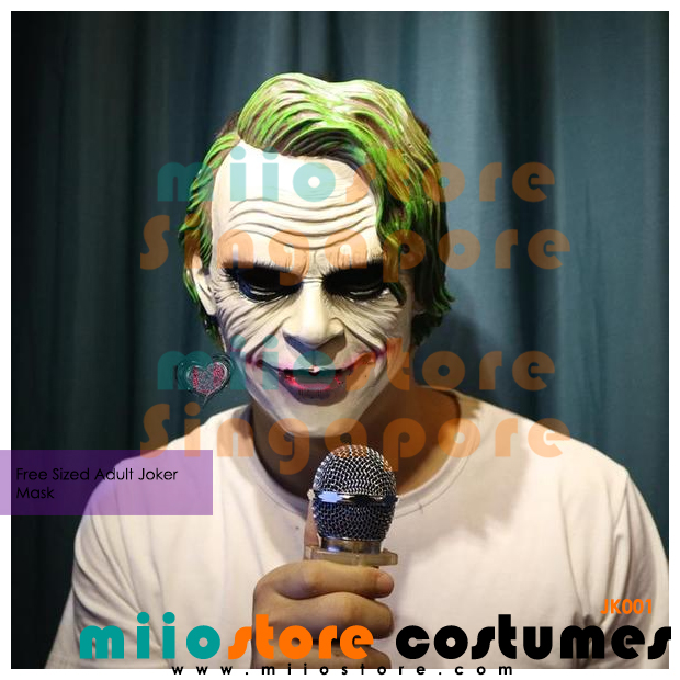 Joker Masks Singapore - JK001 - miiostore Costumes Singapore