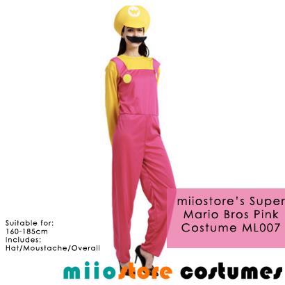 miiostore Peach Mario Costumes - miiostore Costumes Singapore - ML007