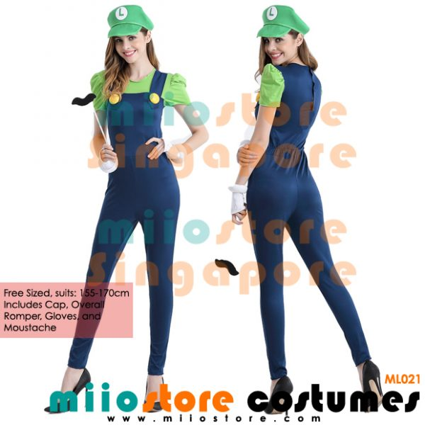 Sexy Ladies Pants Luigi Costumes Singapore - miiostore Costumes Singapore - ML021