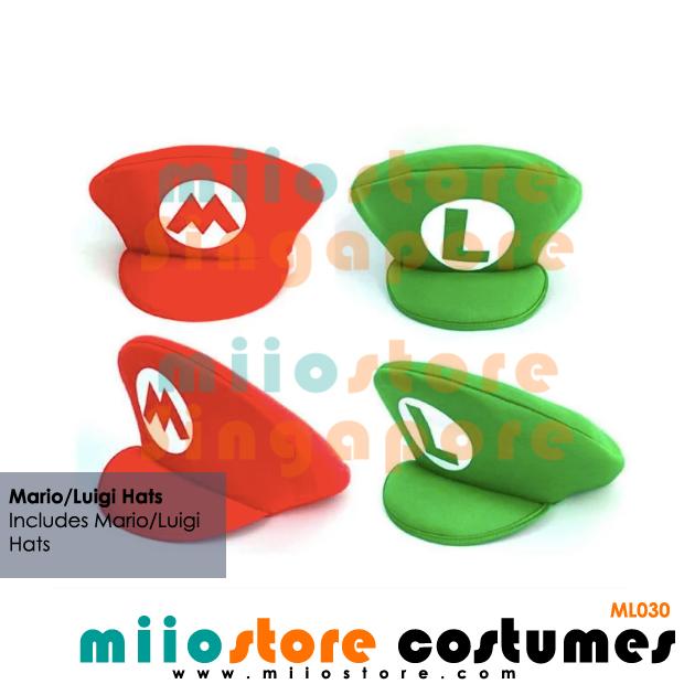 Mario and Luigi Hats - miiostore Costumes Singapore - ML030