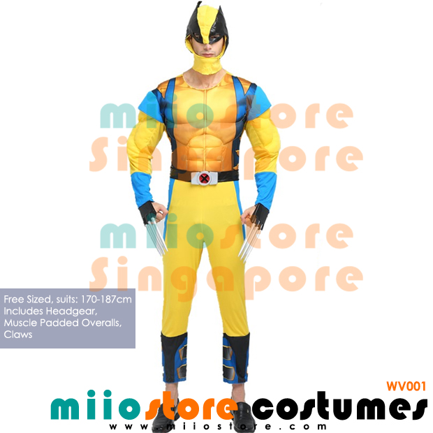 Wolverine Muscle Padded Premium Costumes Singapore - WV001 - miiostore Costumes Singapore