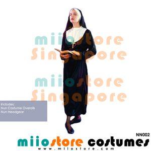 Nun Costumes - NN002 - miiostore Costumes Singapore