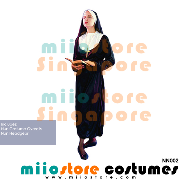 Nun Costumes - NN002 - miiostore Costumes Singapore