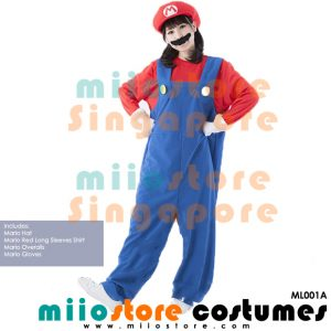 Mario Ladies Overalls - ML001A - miiostore Costumes Singapore