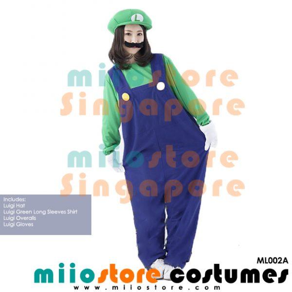 Mario Ladies Overalls - ML002A - miiostore Costumes Singapore