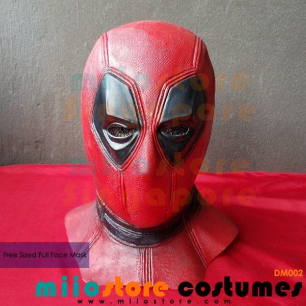 Deadpool Full Faced Mask - miiostore Costumes Singapore - DM002
