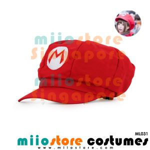 Limited Edition Premium Mario Jockey Cap ML031 - miiostore Costumes Singapore